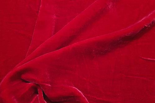 Silk Velvet-deep red