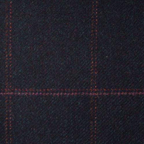 Tartan wool fabric-dark blue 15