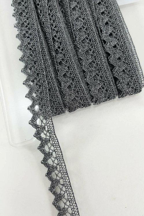 Dark silver lace