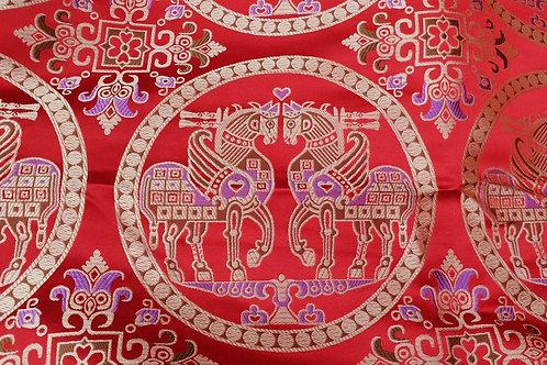 Silk brokade-Sogdian horses 8th cent