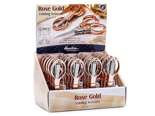 Rose gold folding scissor