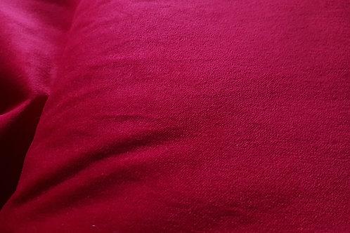 Cotton velvet- Deep red