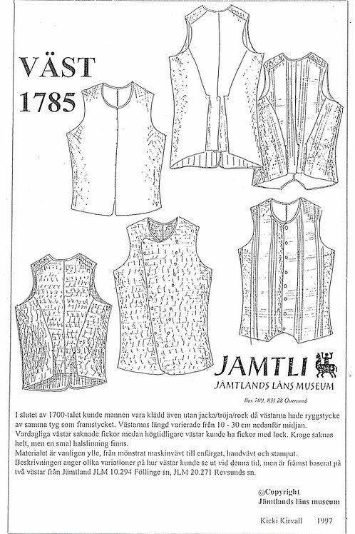 Sewing pattern Jamtli- Waistcoats 1785