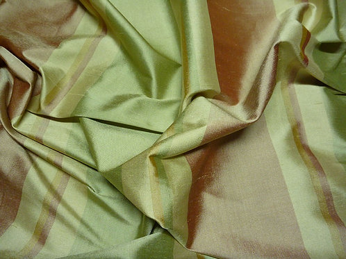 Silk-stripe green/brown