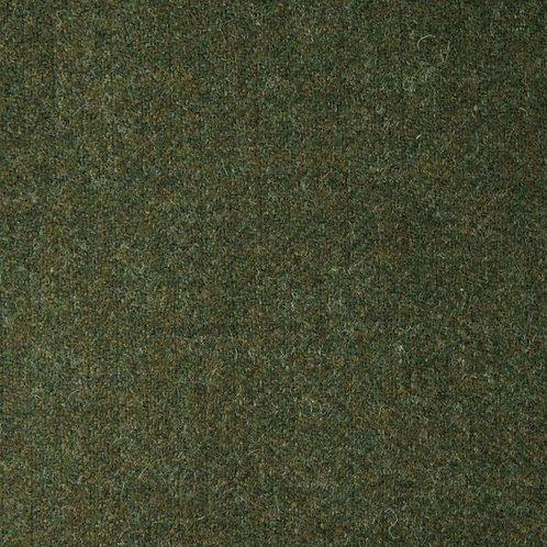 Herringbone wool fabric 100%-forest green