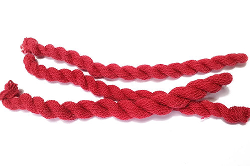Thin strong wool embroidery thread- red 48