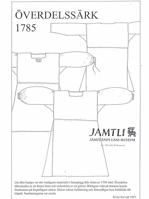 Sewing pamplet Jamtli- Shift 1785