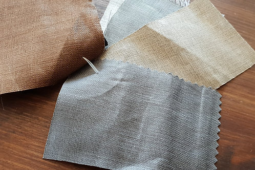Polished linen fabric