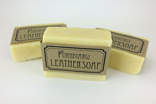Leather and wool soap