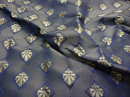 Brocade lily-blue 2