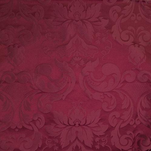 Silk damast medalion-red