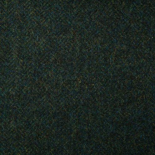 Herringbone wool fabric 100%-dark green