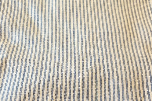 Striped linen- small blue