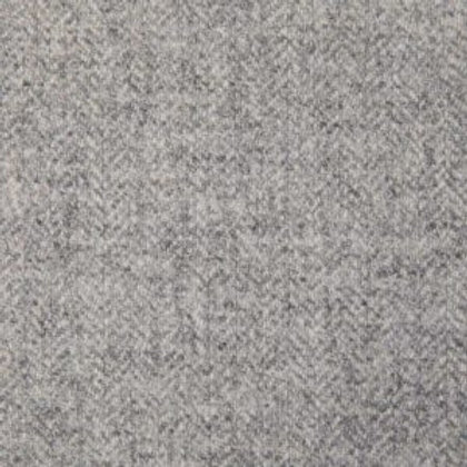 Herringbone wool fabric 100%-light gray