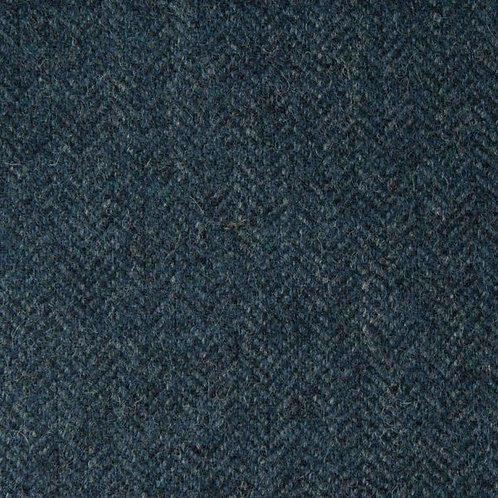 Herringbone wool fabric 100%-blue