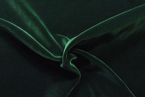 High gloss cotton velvet- Dark green 27
