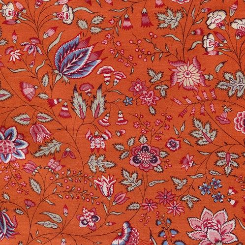 Dutch heritage chintz- orange 1025