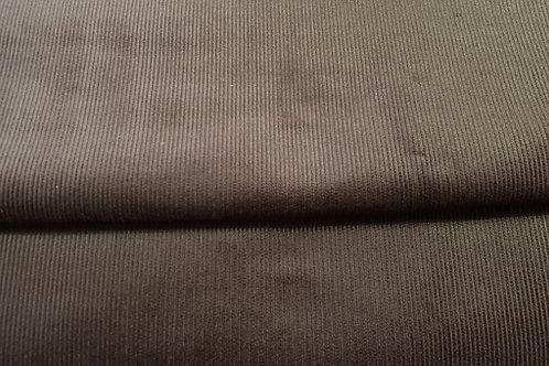 Corduroy small stripe-gray brown