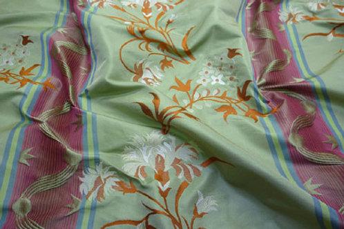 Stripe with big flower-orange