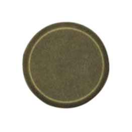 Metal button flat- antique 15mm