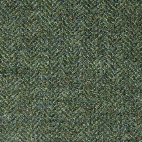 Herringbone wool fabric 100%-gray green