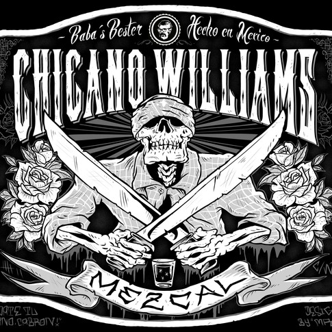 Skull Mezcal Chicago Williams Mister 7 Illustration Mr Seven Graphic Design Berlin