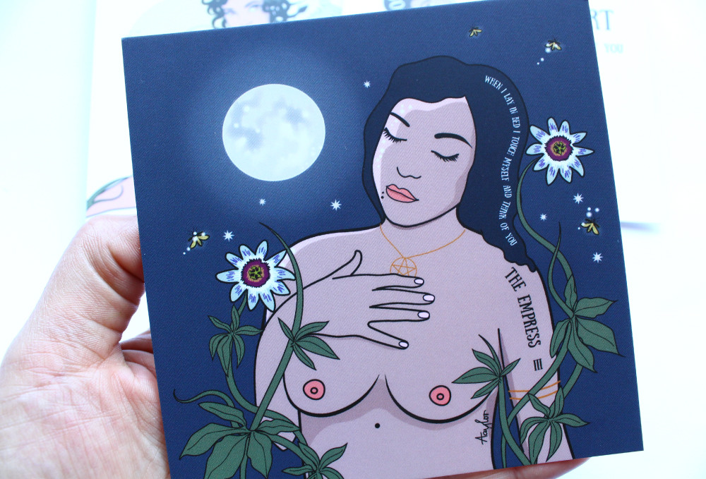Nude art print illustration