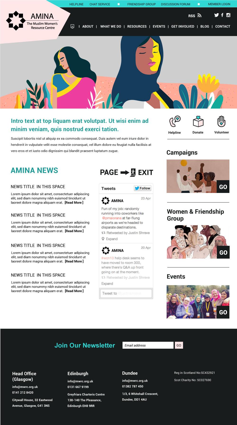 Front end web design