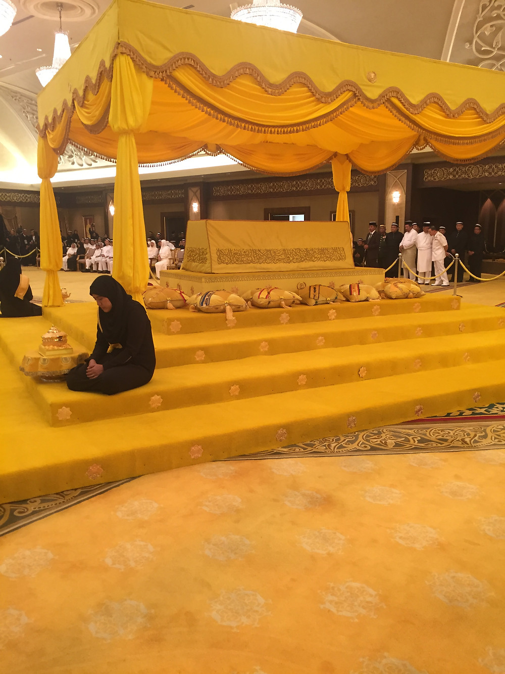 Almarhum Sultan Abdul Halim Mu'adzam Shah, lying-in-state at the Balai Penghadapan, Istana Anak Bukit Alor Star 12 September 2017.