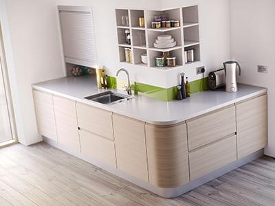 Kitchen 3D visualisation services.