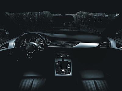 CGI visualisation of a car interior.