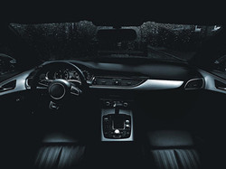 CGI visualisation of a car interior.