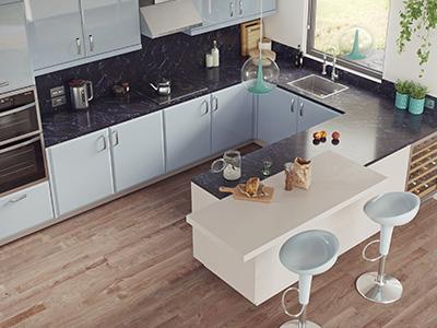 Kitchen high quality render.