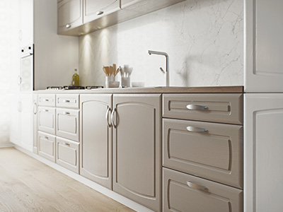 CGI visualisation of a kitchen.