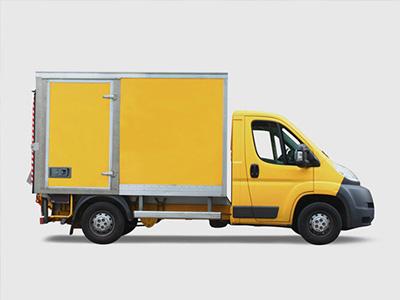 Van and brand 3D visualisation.