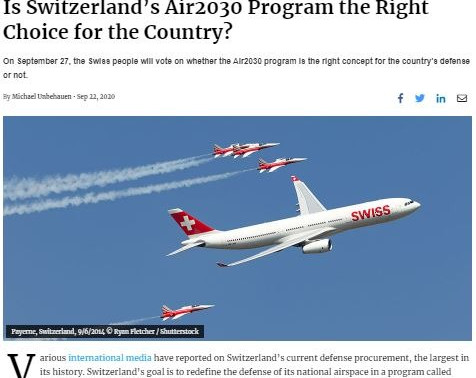 Is Switzerland's Air2030 Program the Right Choice for the Country?
