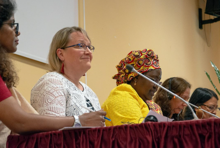 The head of LWF's World Service shares experiences at Caritas Internationalis Women's Forum