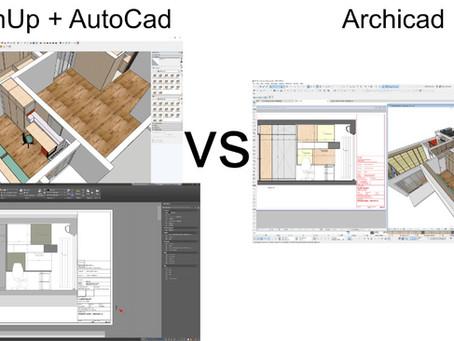 SketchUP + AutoCad vs. Archicad