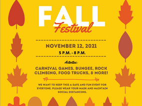 Fall Festival November 12th