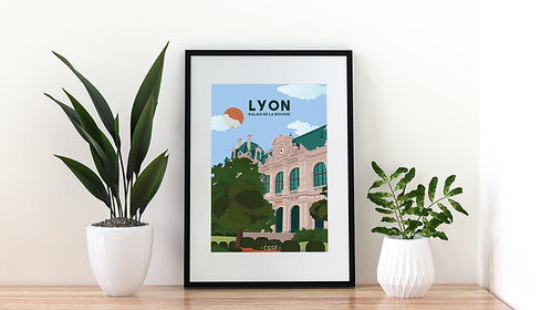 Poster Lyon : Le palais de la Bourse