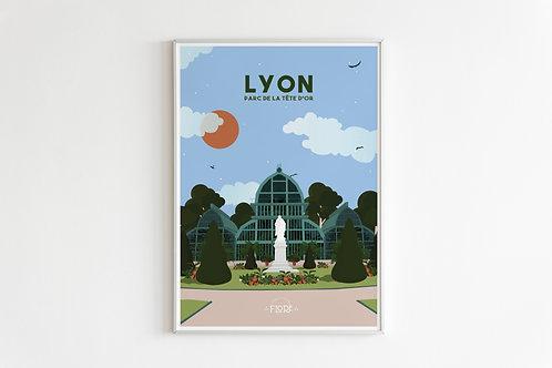 Poster Lyon : Le Parc de la tête d'or