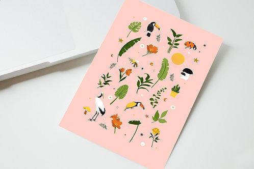 Carte motif nature