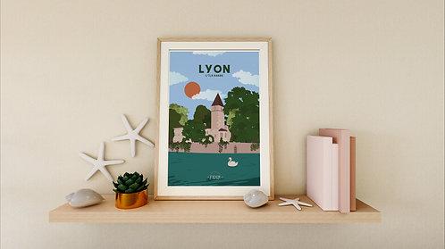Poster Lyon : L'île Barbe