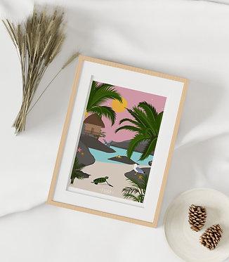 Carte A5 :  La plage