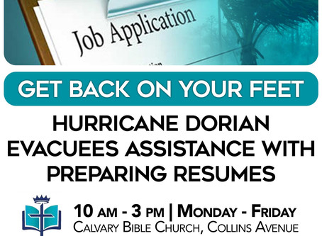 Hurricane Dorian Evacuees Assistance with Preparing Resumes