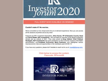 ROYAL FIDELITY INVESTOR FORUM 2020 RECAP