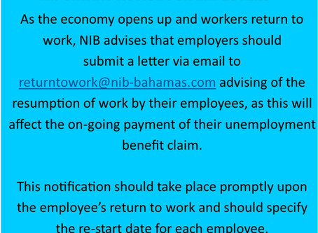 NIB Communications | Notice for Employers and the Resumption of Employees Returning to Work