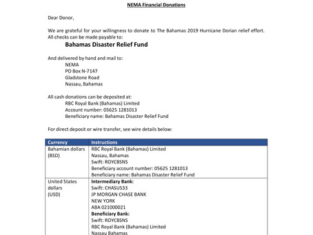 NEMA Financial Donations