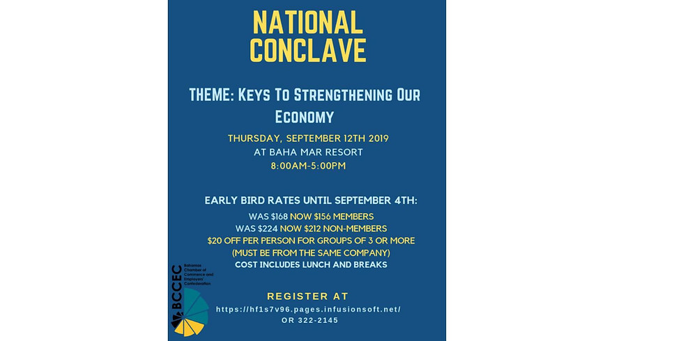 2019 National Conclave - POSTPONED