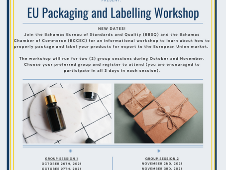 NEW DATES - OCTOBER & NOVEMBER | BBSQ & BCCEC Present: EU Packaging and Labelling Workshop